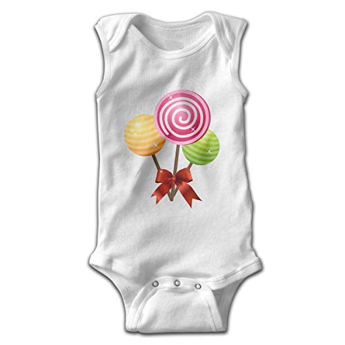 Address Verb Baby Sleeveless Bodysuits Candy Unisex Cute Lap Shoulder Onesies White