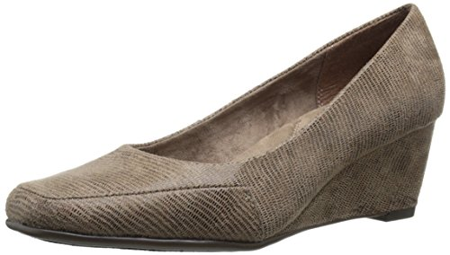 Aerosoles Womens Barecuda Wedge Bronze Snake