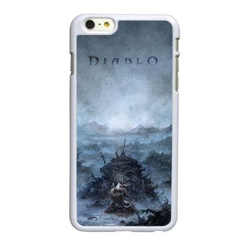 T8G64 Diablo B5S8CG coque iPhone 6 4.7 pouces Cas de couverture de téléphone portable coque blanche DK6RZV4UO