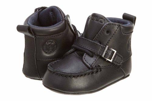 (Ralph Lauren Layette Ranger Hi,Black Leather,2 M US)