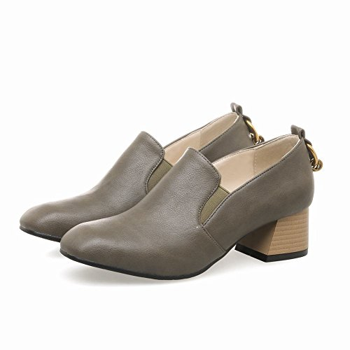 Mee Shoes Damen chunky heels slip on Geschlossen Pumps Farbe 2