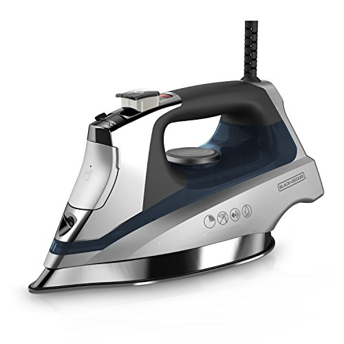 BLACK+DECKER Allure Professional Steam Iron, Dynamic Steam Technology, Blue, (Set Digital Temperature Control System)