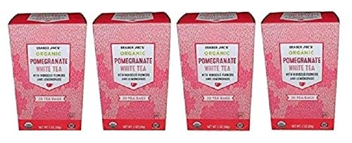 Pomegranate White - Trader Joe's Pomegranate White Tea, 20 Tea Bags (Pack of 4)