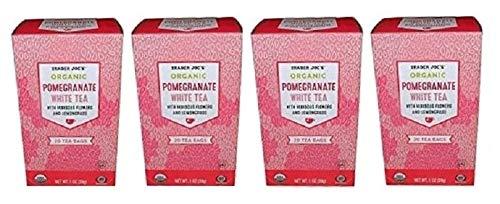 Trader Joe's Pomegranate White Tea, 20 Tea Bags (Pack of 4)