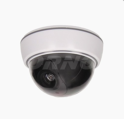 Cámara dummy Vigilancia Falsa Dome infrarrojos LED IP44 Blanco