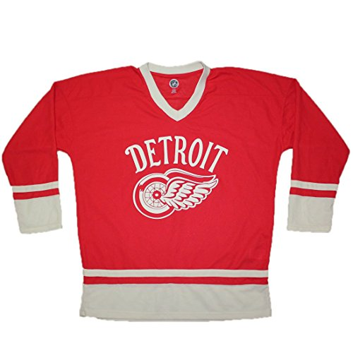 NHL - DETROIT RED WINGS: Mens Vintage Look Hockey Jersey L Red