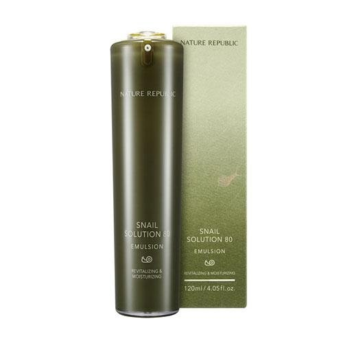 NATURE REPUBLIC Snail Solution 80 Emulsion/ Made in Korea