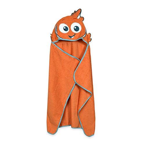 Finding Nemo Bath Towel Set: Disney Baby Puppet Head Towel Set, Blue/Orange Finding