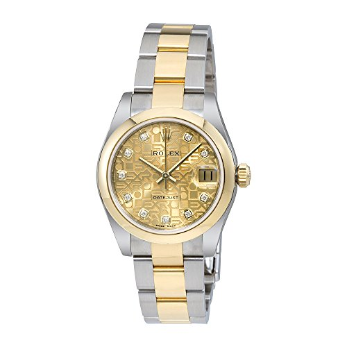 Rolex Datejust Champagne Jubilee Diamond Dial Steel and 18K Yellow Gold Ladies Watch 178243CJDO