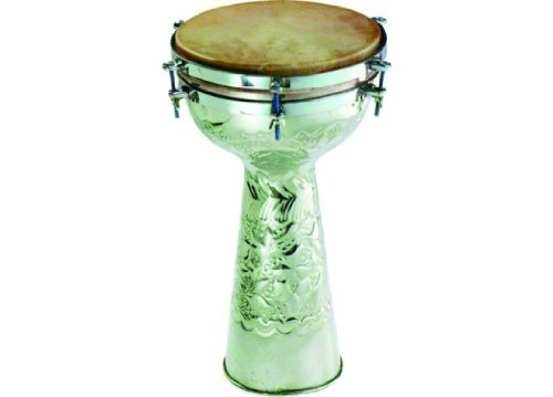 Engraved Metal Doumbek Drum - 10 Head'' by Grover