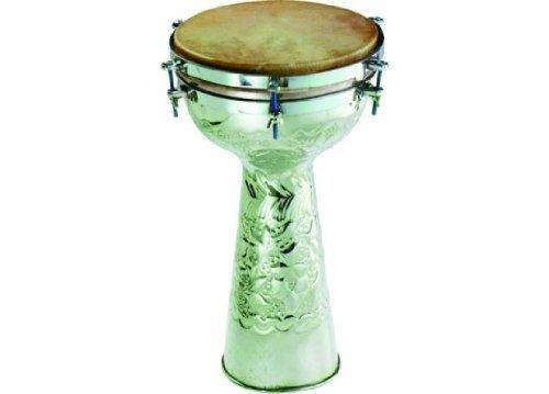 Engraved Metal Doumbek Drum - 10 Head'' by Grover