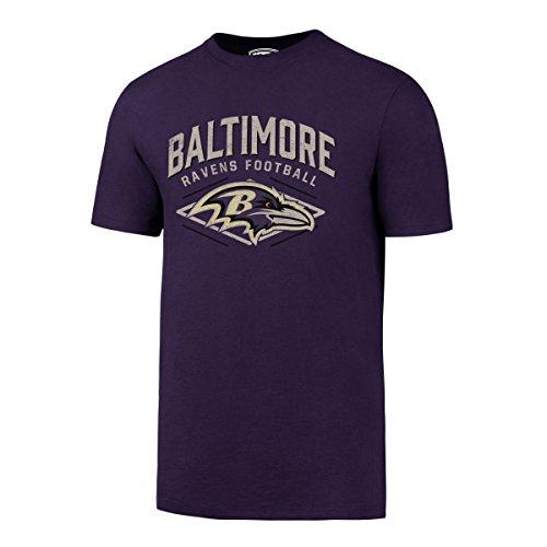 NFL Baltimore Ravens Men's OTS Rival Distressed Tee, Large, Purple-I