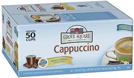 Grove Square Cappuccino, French Vanilla, 50 Single Serve Cups