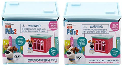 The Secret Life of Pets 2 - Set 0f 2 Mini Collectible Pets Mystery Packs
