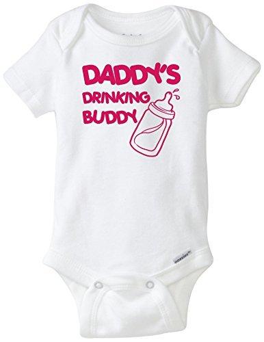 Daddy's Drinking Buddy Onesie Blakenreag Baby Girl (Cheap Funny Onesies)