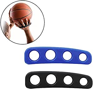 Haploon Basketball Shooting Trainer Aid 5.3 Inch Basketball Training Equipment Aids for Youth and Adult, Pack of 2, Blue and Black