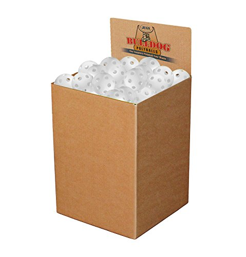 JUGS Bulldog White Poly Baseballs - bulk box of 100 by Jugs