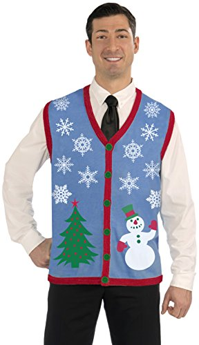 Men's Snowflake Christmas Vest