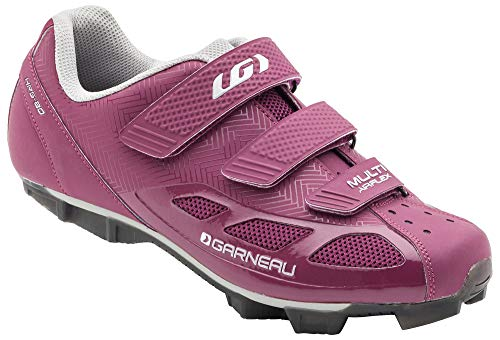 Louis Garneau Women's Multi Air Flex Bike Shoes, Magenta/Drizzle, US (8), EU (39)