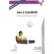 Bac a courrier pour les concours des institutions europeennes