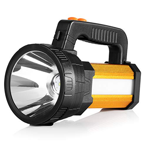 BUYSIGHT Bright Rechargeable Camping Flashlight LED Handheld Flashlight