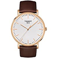 Tissot Tissot Everytime T1096103603100 White / Brown Leather Analog Quartz Men's Watch
