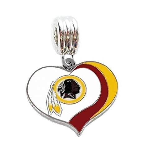 (Heavens Jewelry WASHINGTON REDSKINS FOOTBALL TEAM CHARM SLIDE PENDANT FOR YOUR NECKLACE EUROPEAN CHARM BRACELET (Fits Most Name Brands) DIY ETC)