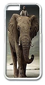 Creative African Elephant Custom iPhone 6 4.7 Inches Case Cover Polycarbonate Transparent