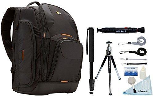 (Case Logic Nylon SLR Camera and 15.4-Inch Laptop Backpack and Free Polaroid Accessory Kit)