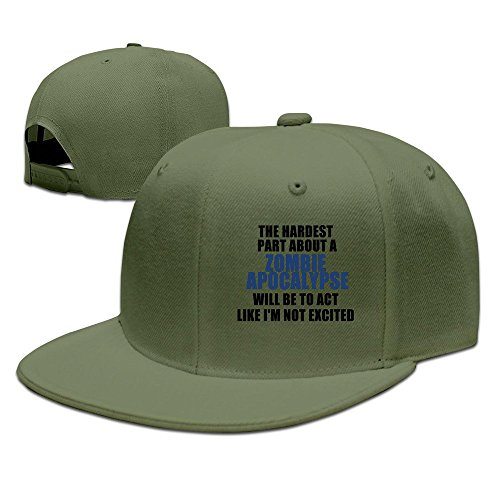 Hardest Part About A Zombie Apocalypse Adjustable Cap Flat Brim Baseball Hat -