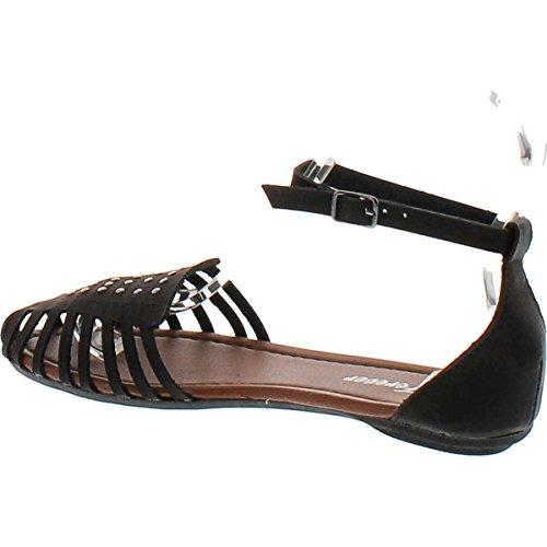 Voor Altijd Link Dames Vera-82/89 Sandalen Zwarte Studs