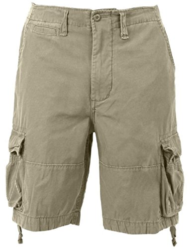 Bellawjace Clothing Khaki Vintage Army Infantry Military Utility Cargo Shorts ()