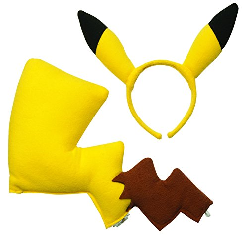 [Rubies Pokémon Pikachu Ears and Tail Dress Up Kit (Discontinued by manufacturer)] (Pikachu Costumes Women)