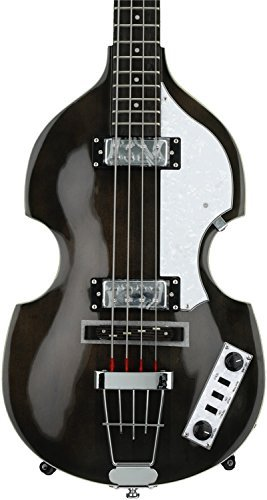 Hofner 4 String Ignition Violin Bass-Transparent Black, Right Handed (HI-BB-TBK)