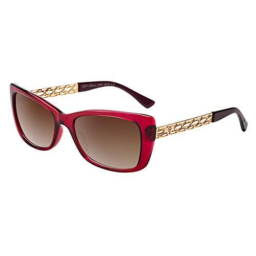 sses Rectangle Fashion Ladies Polarized UV400 TAC Lenses ()