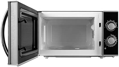 MEDION Mikrowelle, ca. 700 Watt Leistung, ca. 17 Liter Kapazität, 5 Stufen, Auftaufunktion, MD 15644, schwarz/silber