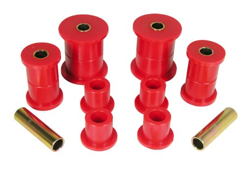 Prothane 1-1014 Red Front Spring Eye and Shackle Bushing Kit ()
