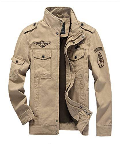 Adelina Abrigo De Algodón para Hombre Chaquetas Militares Clásicas Ntel Uniforme Hombre para Coat De Combate Uniforme De Chaqueta Exterior Parka Khaki