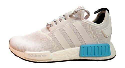 Price comparison product image adidas originals NMD_R1 Junior running trainers sneakers shoes (uk 6.5 eu 40,  white bright cyan S80207)