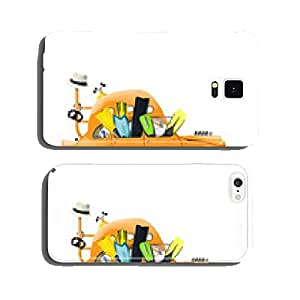 Summer, vintage cars with fins on the beach cell phone cover case Samsung S5