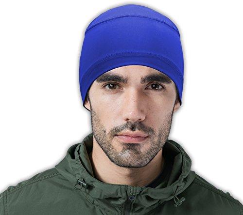 Hockey Helmet (Cooling Cap / Helmet Liner / Skull Cap / Running Beanie - Ultimate Performance Moisture Wicking. Fits under Helmets Blue OSFM)