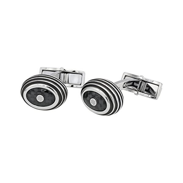 Montblanc-Iconic-Stainless-Steel-and-Black-Carbon-Cufflinks-111312