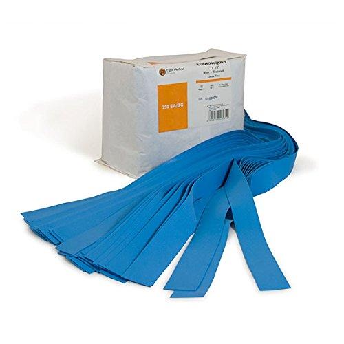 Textured Tourniquets 1'' x 18'' Single Bulk Bag Blue