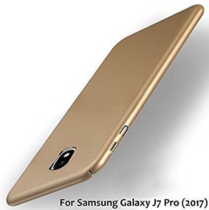 check out 6b1eb 89875 RayKay Golden Back Cover for J7 Pro, All Sides Protection 4 Cut Hard Matte  Rubberised Back Cover For Samsung Galaxy J7 Pro - Gold