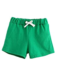 Mapletop Kids Boys Girls Summer Cotton Shorts Candy Shorts Baby Clothing
