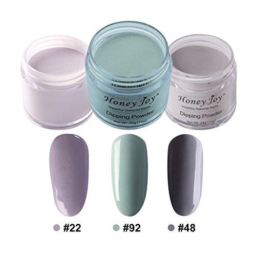 3pcs 28g/Box Multi Colorful Dipping Powder Without Lamp Cure Nails Dip Powder Summer Gel Nail Color Powder Natural Dry (22-92-48) by Honey Joy