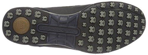 Allrounder by Mephisto Tacco-Tex Rubber 1/C.Suede 55 Black/Ocean, Sneaker Basse Uomo Blu (Blau (Black/Ocean))