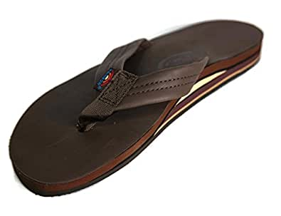 Rainbow Rainbow Mens Double Layer Classic Leather With Arch Support Sandal - Classic