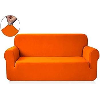 Attrayant Chun Yi 1 Piece Knit Fabric Slipcover For Sofa   Orange
