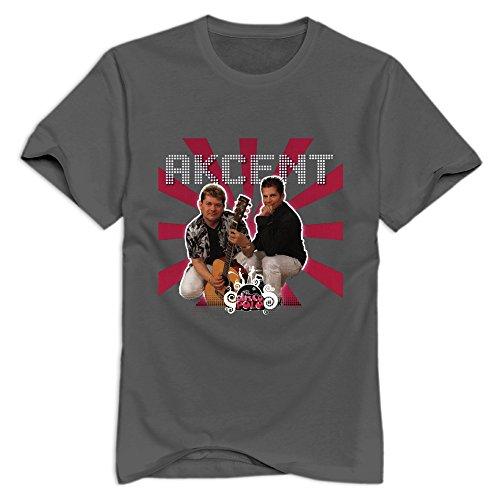GYKU Men's Akcent T-Shirt DeepHeather US Size M,100% Cotton